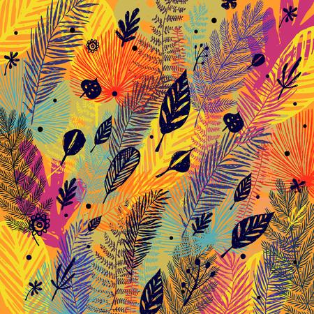 Multicolored trendy autumn pattern