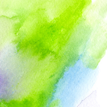 bright blue and acid green, trendy watercolor background. Great design element for brochure, banner, cover, booklet, UI, UX, flyer, card, poster and others