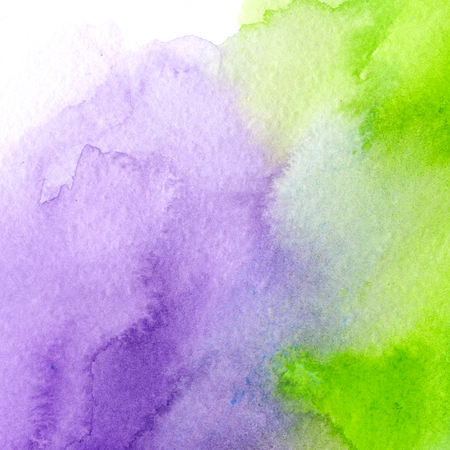 bright purple and acid green, trendy watercolor background. Great design element for brochure, banner, cover, booklet, UI, UX, flyer, card, poster