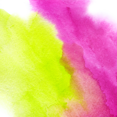 Plastic pink and Acid Green, trendy watercolor background. Great design element for brochure, banner, cover, booklet, UI, UX, flyer, card, poster and others Stock Photo
