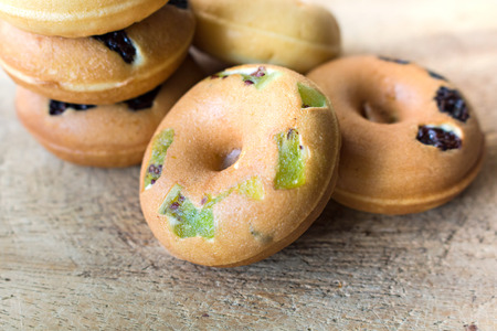 with fillings: miniature donuts and Dried kiwi fillings