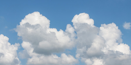 the firmament: white and gray in cloudscape with blue sky Stock Photo