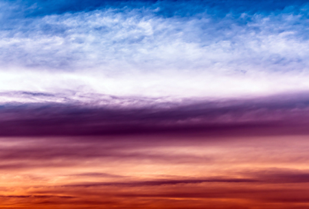 the firmament: Colorful cloudy,white blue purple orange and red color in sky Stock Photo