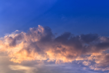 the firmament: Clouds and sundown  light