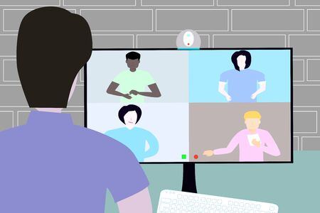 video conference with friends and business,Socialize online