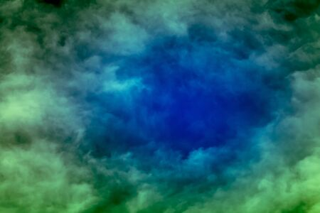 dark blue color and dim green color in sky with Blurry clouds,abstract