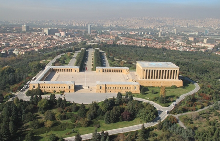 the statesman: ankara anitkabir Stock Photo