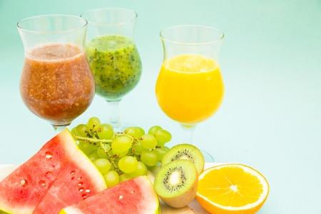 Fresh fruit smoothie Stock Photo