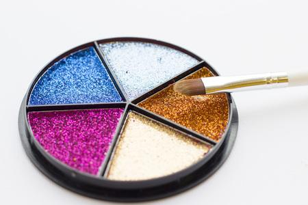 Make up glitter palette Stock Photo