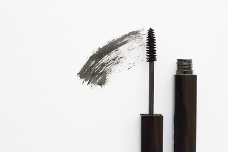 Black mascara on white