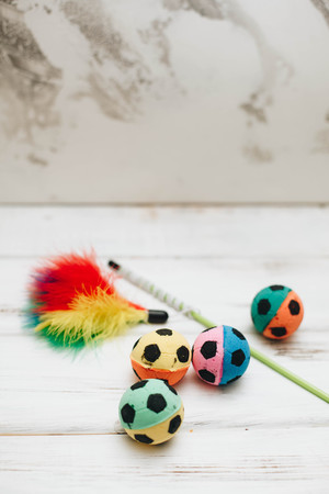 Colored rubber ball toys for pets