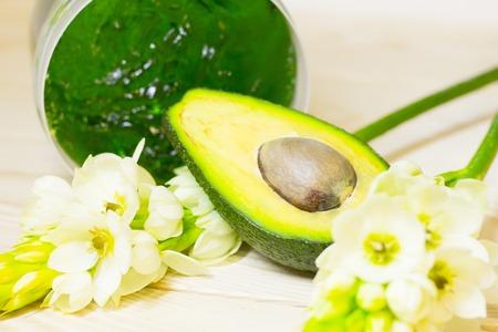 Avocado oil skin concept