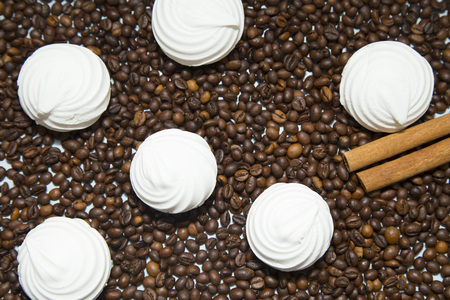 Coffee cup and coffee beans Foto de archivo