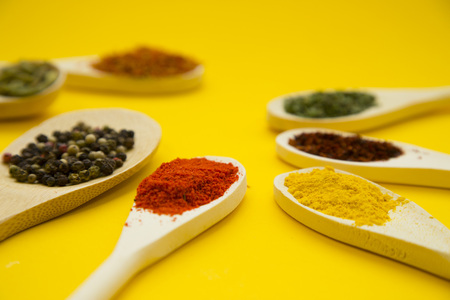 Set of spices and herbs Stock Photo