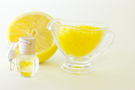 Aromatherapy yellow concept Banque d'images