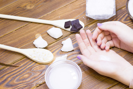 Coconut spa wellness concept