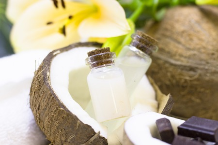Coconut spa wellness natural skin care concept Banque d'images