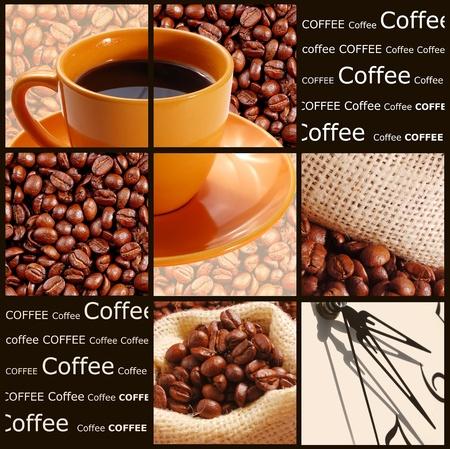 objetos cuadrados: Concepto de café
