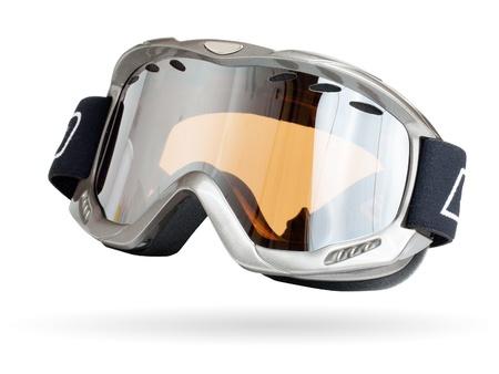 goggle: Ski glass isolated on a white Stock Photo
