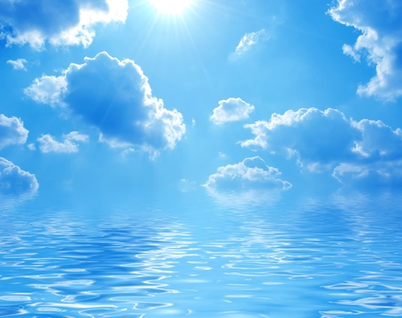 water scape: Blue sea