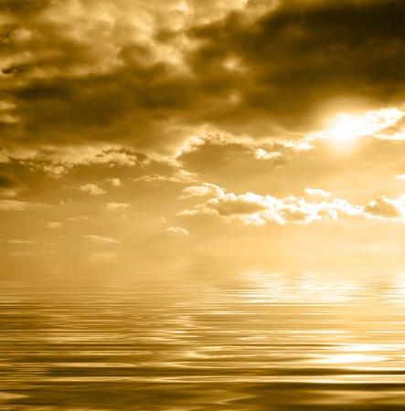 spaciousness: Marine sunset