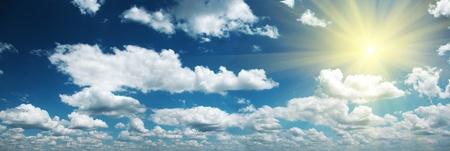 spaciousness: Sky and sun nature background  Panorama