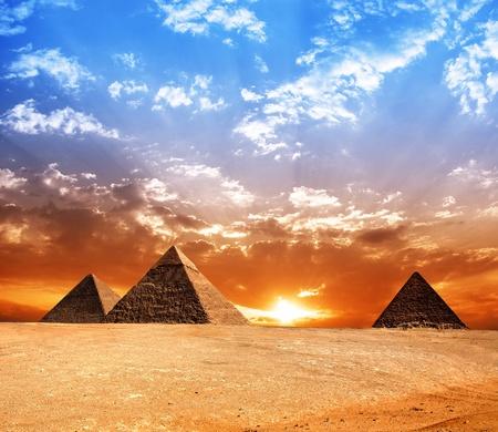 Egypt pyramid  Historic buildings  Panorama