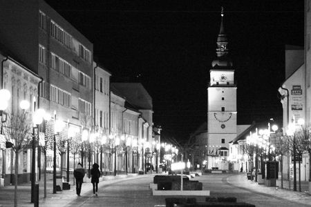 nocturnal: nocturnal Trnava, Trnava night Editorial