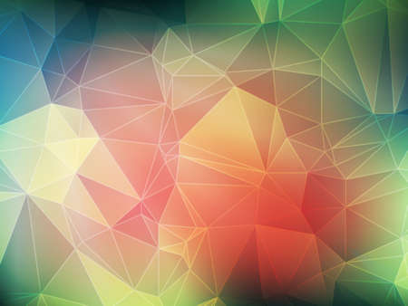 Multicolor polygonal illustration of triangles in vector.Geometric background in Origami style with gradient. Illustration