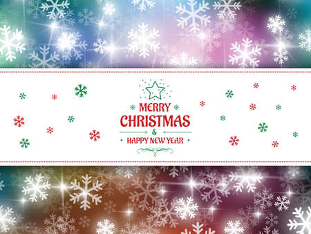 happy christmas: Christmas background snow vector and happy new year Illustration