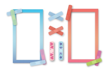 trims: Colorful kids band-aid borders for pediatrician or nurse