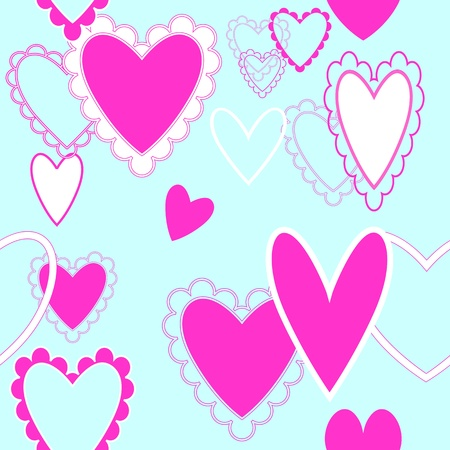 Seamless repeating hearts pattern Stock Vector - 11837495