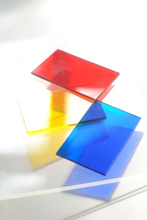 Sparkling clear sheets of plexiglass Stock Photo