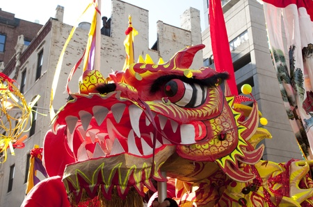 Dragon performers at Chinese New Year