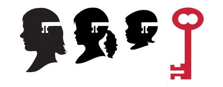 esquizofrenia: Descubre los misterios de la genética, trastornos neurológicos, psiquiátricos como el autismo Vectores