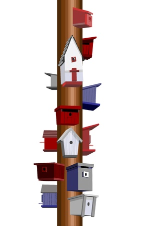 bird feeder: Birdhouse hotel