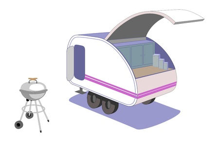 Teardrop trailer Illustration