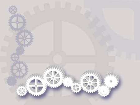 シルバー グレーの歯車ライン  イラスト・ベクター素材