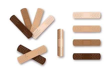 Multi-racial skin tone bandaids