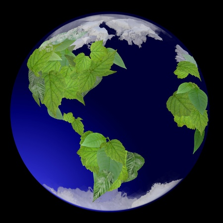 Growing Green Globe Stock Photo