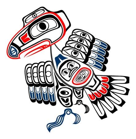 totem indien: Corbeau haïda