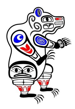 totem indien: Haida ours