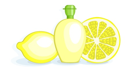 Lemons and Lemon Juice Stock Vector - 16211478