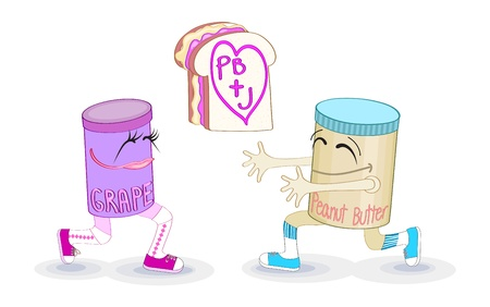 Peanut butter and jelly Vector