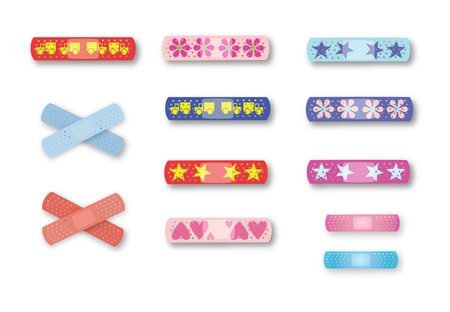 medical dressing: Colorful kids bandages