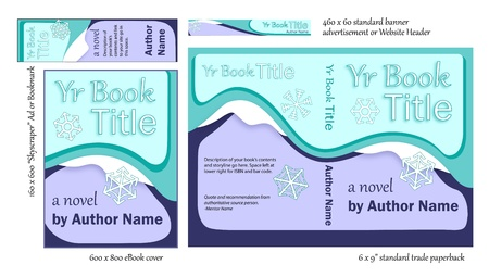 Versatile Blue Book COVER Designs for Writers Illustration