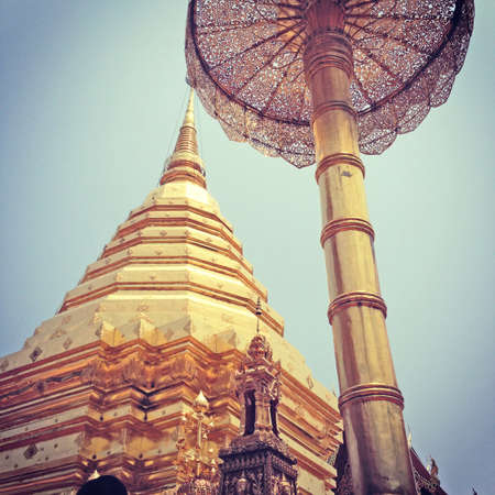 Phra That Doi Suthep, enjoy the architecture, the old way to buy, sell souvenirs  photo