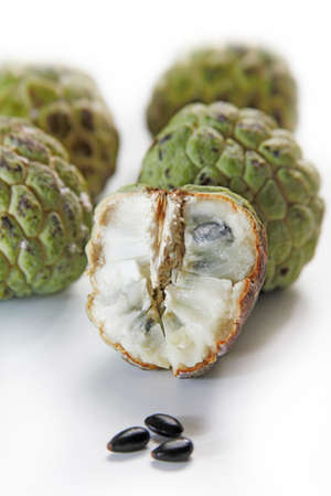 custard apple: Custard apple, tropical fruit taste sweet  Stock Photo