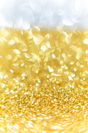 edel: Beautiful Gold and Silver background Festival for Christmas and New Years. Stock Photo