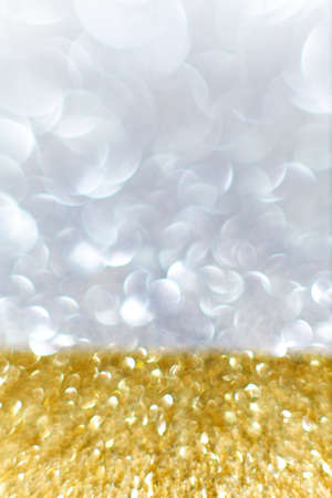 edel: Beautiful Gold and Silver background Festival for Christmas and New Years Stock Photo